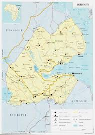 Africa Map With Cities by Detailed Road And Political Map Of Djibouti With Cities And