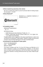 2012 toyota highlander bluetooth