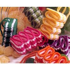 candy ornaments ribbon candy ornaments in plastic canvas epattern leisurearts