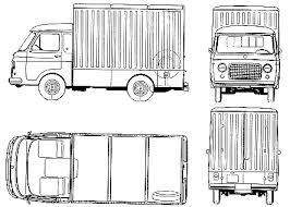car blueprints fiat 241 tn fourgon blueprints vector drawings