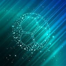soccer background 3d sparkling yellow sketch vectors stock in