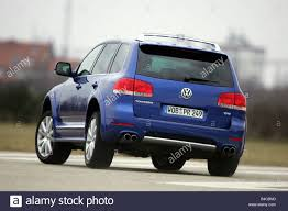 car vw volkswagen touareg w12 sport model year 2004 blue