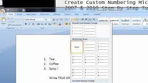 how to make raffle tickets on word how to do create custom numbering microsoft office 2007 u0026 2010
