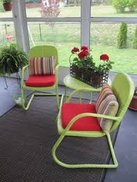 Patio Furniture Metal Repaint Old Metal Patio Chairs Diy Paint Outdoor Metal Motel