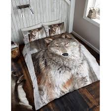 Wolf Bedding Set Photographic Animal Duvet Set Wolf Bedding Bed Set