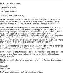 cover letter for resumes exles cv cover letter auditor fungram co