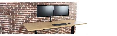 Recessed Monitor Computer Desk Amazon Com Vivo Dual Lcd Led Monitor Desk Mount Stand Heavy Duty
