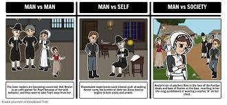 the scarlet letter literary conflict storyboard