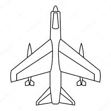 armed fighter jet icon outline style u2014 stock vector ylivdesign