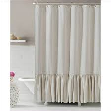 Extra Wide Thermal Curtains Extra Wide Sheer Curtains Ruffled Ticking Stripe Shower Curtain