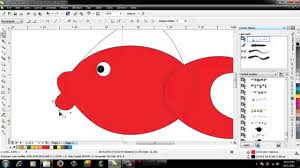tutorial corel draw menggambar kartun tutorial corel draw menggambar kartun ikan youtube