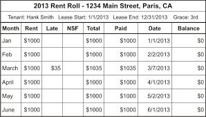 6 rent roll templates u2013 word templates