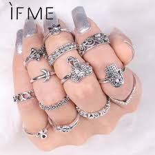 rings set images Buy if me 13pcs set punk midi rings set for women jpg