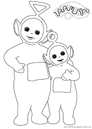 teletubbies color cartoon characters coloring