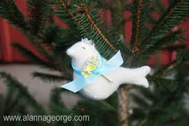 handmade holidays felt bird ornament pattern alanna george