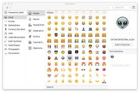 celebration emoji access and use emoji in mac os x