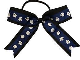 paw print ribbon cheerleading bows cheer bow