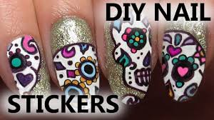 easy halloween sugar skull sharpie nail art youtube