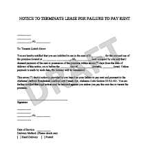 sample of eviction letter for tenants template examples