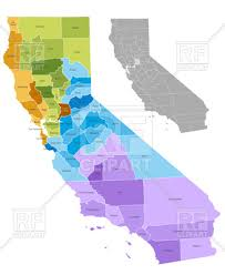 counties map california state counties map with boundaries and names royalty