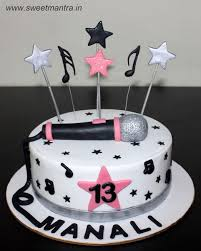 singing birthday and singing theme customised designer cake for