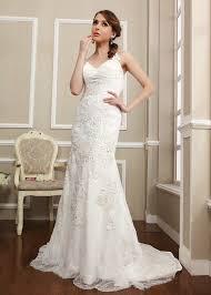 column wedding dresses backless cross straps lace wedding dress sheath column bridal