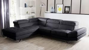 salon avec canapé noir canap noir d angle fabulous canap d angle places oara en u noir et
