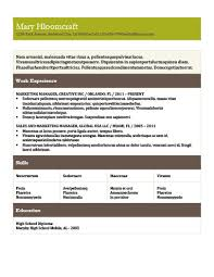 Powerful Resume Samples by Modern Resume Templates 64 Examples Free Download