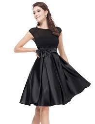 satin knee length party dress