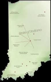 Map Of Indianapolis Indiana Wonderful Indiana Destinations