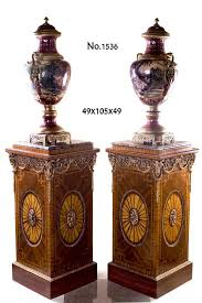 Vase Stands Fine Pair Of George Iii Style Neoclassical Ram Head Ormolu Mounted