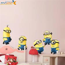 minions movie wall stickers kids room home decorations diy pvc