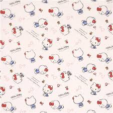 white kitty small flower butterfly mini dot oxford fabric
