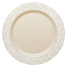 10 25 lace ivory plastic dinner plates smarty had a