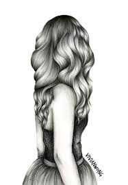 drawing hair is my forte this black and white sketch drawing of a