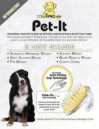 Make Bathtime Fun For Your Dog Amazon Com Conair Prodogs Pet It Shampoo Massage Brush For Dogs