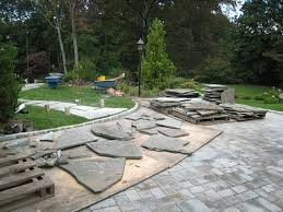 Flagstone Patio Installation How To Install A Flagstone Path In A Lawn Landscapeadvisor