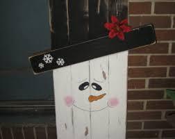 Light Up Snowman Outdoor Wooden Snowman Etsy