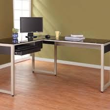Extra Long Computer Desk Black Wooden Long Computer Desk In A Modern Design Bedroom