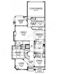 Narrow House Plans With Garage Pebble Creek Narrow Floor Plans European Floor Plans
