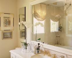 bathroom window coverings ideas master bath with crema marfil marble and mirrored silk window