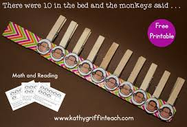 10 Monkeys Jumping On The Bed 10 In The Bed Math And Literacy Activities Kathy Griffin U0027s