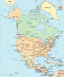 combined map of usa and canada map of america and mexico major tourist attractions maps
