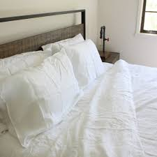 100 pure french linen quilt cover set in snow white king size