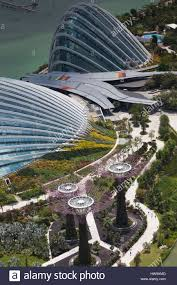 singapore elevated view of the gardens by the bay with the indoor
