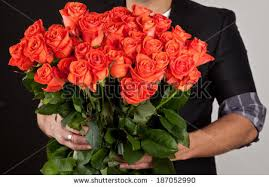 big bouquet of roses beautiful big bouquet roses stock photo 187052990