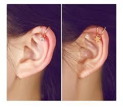 ear earrings 1 u style no ear cuff clip on earring sun viebellestore