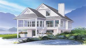 narrow waterfront house plans small waterfront house plans coastal house plans narrow lots