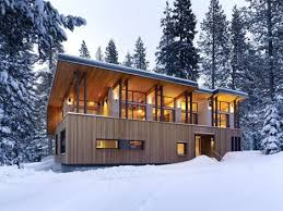 shed roof house winter home roof sloped for snow like an avalanche shed