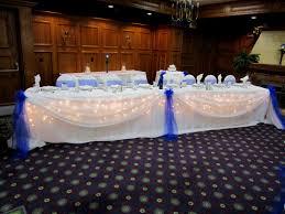 wedding table decoration ideas blue wedding decoration